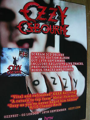 Ozzy Osbourne - Magazine Cutting (Full Page Advert) (Ref Wd)