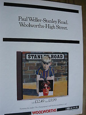 Paul Weller - Magazine Cutting (Full Page Advert) (Ref Sn1)