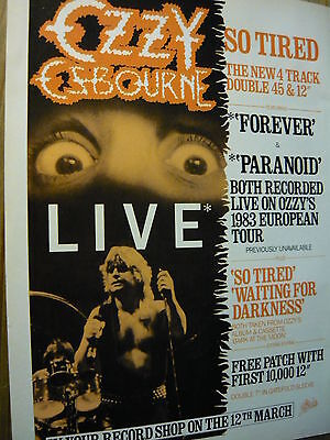 Ozzy Osbourne - Magazine Cutting (Full Page Advert) (Ref N6)