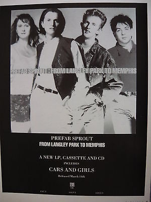 Prefab Sprout - Magazine Cutting (Full Page Advert) (Ref Sc)