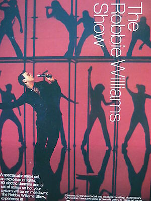 Robbie Williams - Magazine Cutting (Full Page Advert) (Ref Md3)