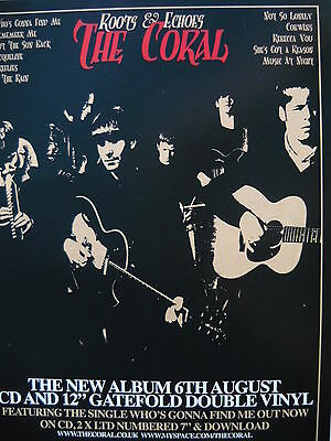 The Coral - Magazine Cutting (Full Page Advert) (Ref J)