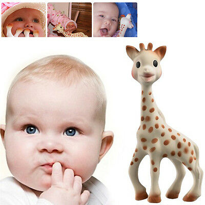 UK Sophie The Giraffe Teething Toy Gift Baby Safe Rubber Pacifier Chewing Toys