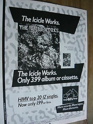 The Icicle Works - Magazine Cutting (Full Page Advert) (Ref T11)
