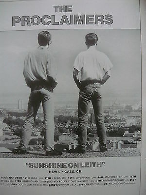 The Proclaimers - Magazine Cutting (Full Page Advert) (Ref Sg)