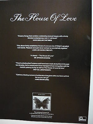 The House Of Love - Magazine Cutting (Full Page Advert) (Ref Sd)