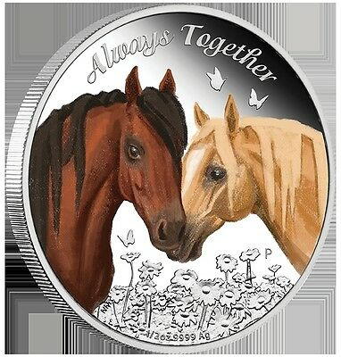 2017 50c Australian - Always Together - 1/2oz Silver Proof Coin - Perth Mint