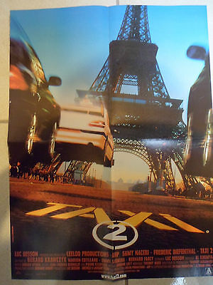 Taxi 2 - Luc Besson / 2000 Affiche Poster Magazine