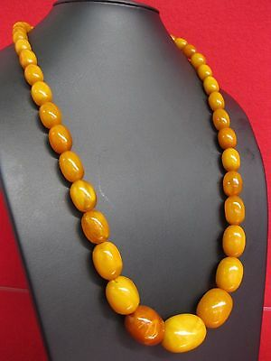 60 g OLIVE Nature real  Amber Butterscotch Necklace 老琥珀  Natur Bernsteinkette