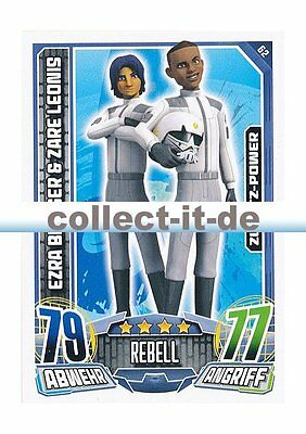 Rebell Attax Serie 1 - 62 - EZRA BRIDGER & ZARE LEONIS - Rebell - Zusatz-Power