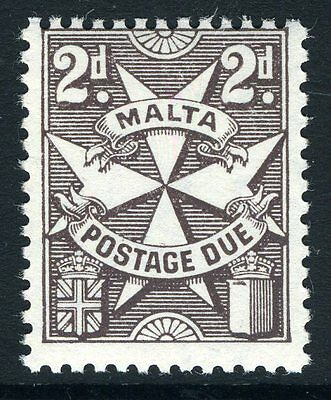 MALTA-1953-63 2d Blackish-Brown Postage Due Sg D24a UNMOUNTED MINT V13419