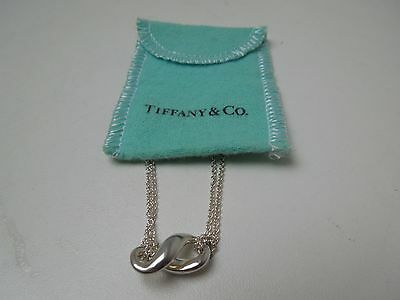Tiffany & Co. Sterling Silver Infinity *Figure 8 Pendant Necklace Double Chain