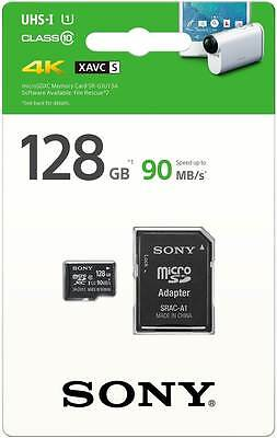 New Sony 128GB UHS-I Micro SD SDHC Class 10 High 90Mb/s Retail
