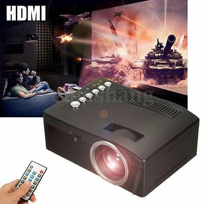 Mini 1080P Full Hd Home Theater Multimedia Usb Tv Av Pc Hdmi Lcd Led Projector