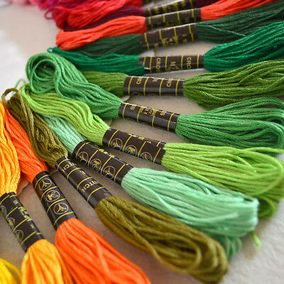 Useful 50pc Cotton polyester Embroidery Machine Thread 50 Different Colours XC