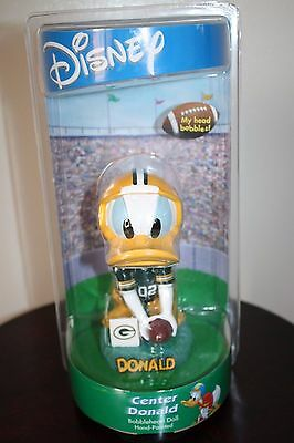 NFL GREEN BAY PACKERS Center Disney Donald Duck Hand-Painted Bobblehead In Box
