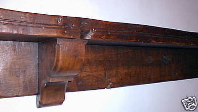 Mantel shelf oak beam mantleshelf traditional old wood cottage fireplace replica
