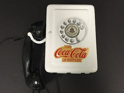 Vintage Metal Western Electric Hello Central Rotary Phone Coca Cola Branded