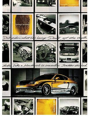 """Hyundai 2004 Tiburon V6 Print Ad """"Cloning is for sheep""""... """"Scatter the herd"""""""