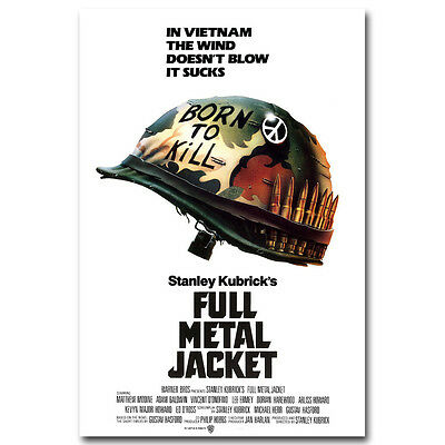 FULL METAL JACKET Movie Silk Poster 12x18 24x36 inch Stanley Kubrick Vietnam War