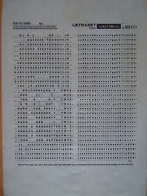 LETRASET Rub on Letter Transfers FOLIO BOLD 10pt (#471) used