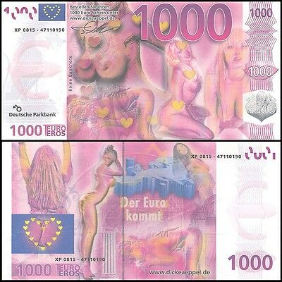 Europe 1,000 (1000) Euro Sex Banknote, UNC