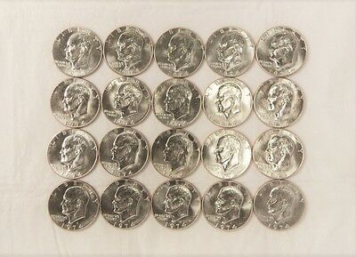 1974-D Roll of BU Eisenhower Dollars - 20 Coins  !!! FREE SHIPPING !!!