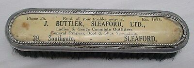 Antique c1900 Advertising Wooden Clothes Brush J BUTLER SLEAFORD LINCOLNSHIRE