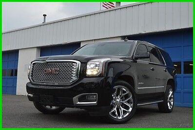 "2015 GMC Yukon Denali AWD 4WD 6.2L V8 22"" Wheels LOADED! Save Big Repairable Rebuildable Salvage Lot Drives Great Project Builder Fixer Easy Fix"