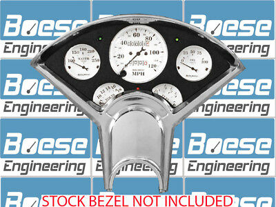 55-56 Chevy Anodized Aluminum Dash Panel w/ Auto Meter Old Tyme White Gauges