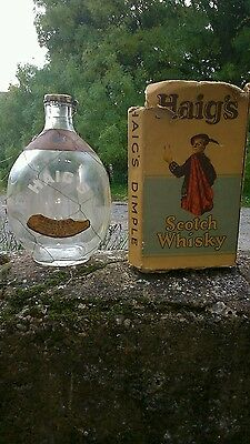 Vintage Haig Dimple Scotch Whisky Bottle And Box