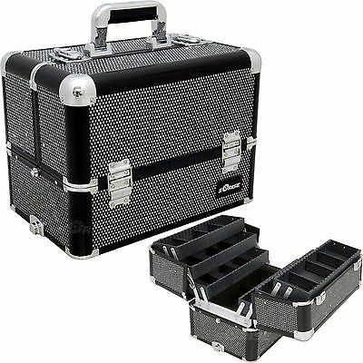 Makeup Storage Box Train Make Up Cosmetic Luggage Organizer Travel Beauty Case