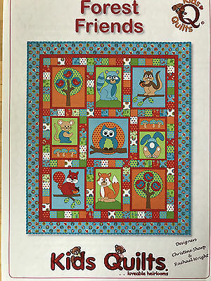 Forest Friends Child's Cot/crib Applique Quilt Pattern By Kids Quilts