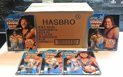 WWF HASBRO 5x MOC FIGURES WITH CASE 1994 BLUE CARD SERIES 10 - ALL CASE FRESH!