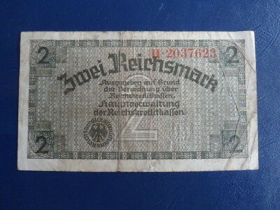 1941-45 Nazi German Occupied Territories 2 Reichsmark Bank Note-Fine Cond.17-3
