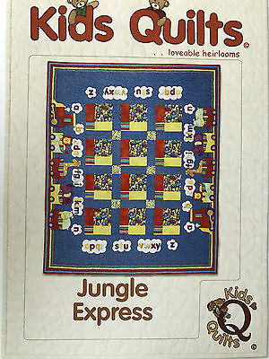 Jungle Express Child's Single Bed Applique Quilt Pattern By Kids Quilts