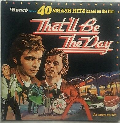 Various Artists David Essex That'll Be The Day Soundtrack Double Vinyl LP Nr EX