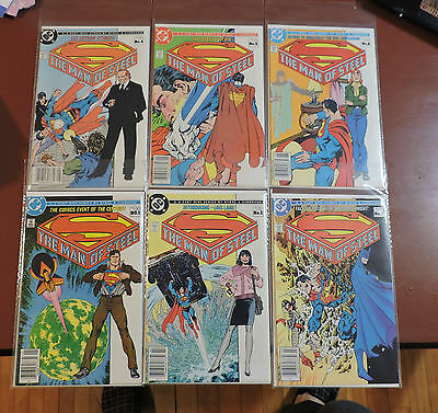 Superman The Man of Steel #1-6 Canadian Newsstand Price Variant VF/NM