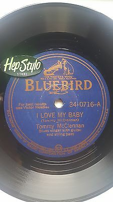 TOMMY McCLENNAN 45 RE -I LOVE MY BABY/SHAKE IT UP & GO -ULTRA RARE BLUEBIRD 1942