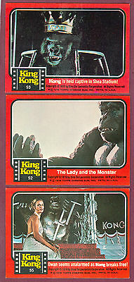 1976 Topps King Kong Movie Trading Card Rare Number 52 Of 55 Sp