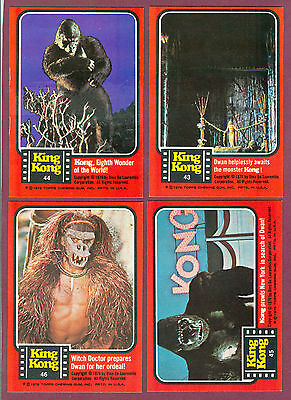 1976 Topps King Kong Movie Trading Card Rare Number 44 Of 55 Sp