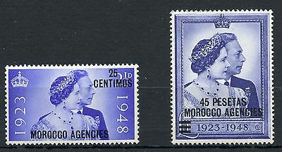 Weeda GB Offices in Morocco 93-94 VF mint NH KGVI set of 2 CV $20.10