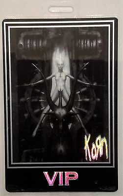 ******* KORN ******* - LAMINATED BACKSTAGE PASS - VIP - with amazing laser foil