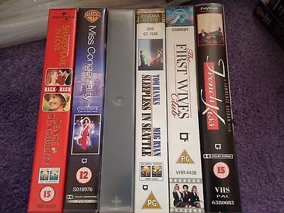 Romantic Comedy VHS Bundle X6 Video Tapes X7 Films First Wives Club French Kiss