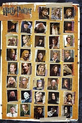 HARRY POTTER ~ DEATHLY HALLOWS 38 CAST 24x36 MOVIE POSTER Snape Hermione Draco