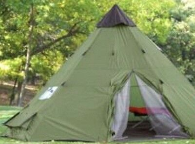 10' x 10' Teepee Tent Hunting Tipi Indian Family Large Outdoors army camping NEW