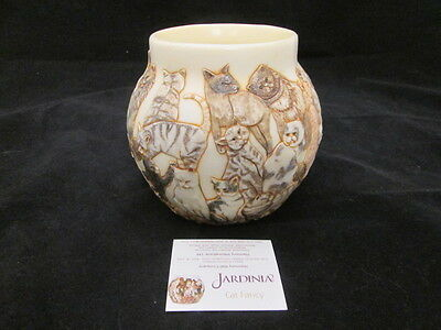 "Jardinia Harmony Ball Co ""Cat Fancy"" Crushed Marble Resin Jar w/ Placard"