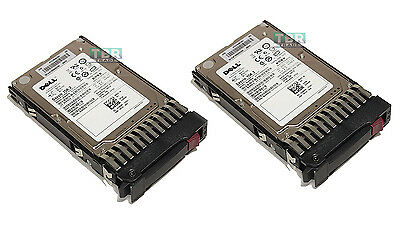 LOT of 2 Dell Seagate ST9146852SS 146GB SAS 3Gbp/s 15K Hard Drive W/Tray HDD