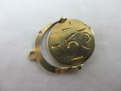 9k yellow gold spinning 'I love you' pendant charm vintage c1970 tbj00670