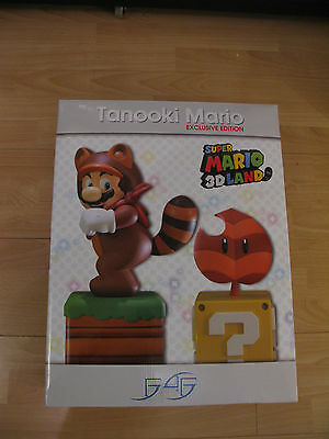 -= Statuette Tanooki Mario Edition Limited First 4 Figure NEUF Nintendo=-